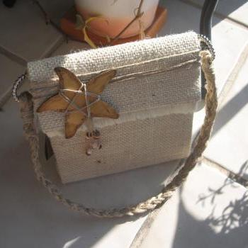Natural Beach Style Purse,..